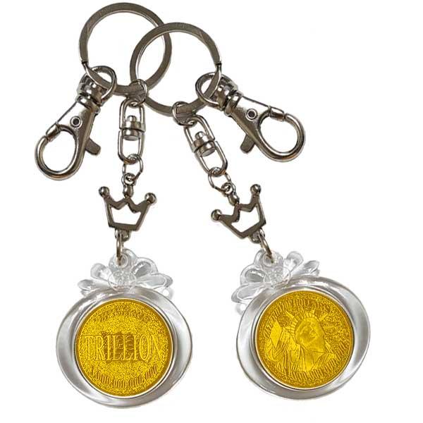 부자되는 황금동전 1조달러 키링